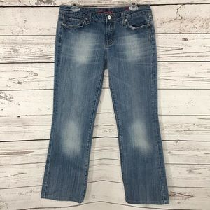 Vigoss Jeans Venice Boot Low-Rise Faded Pockets